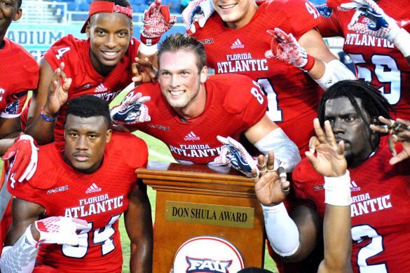 fau players shula bowl trophy