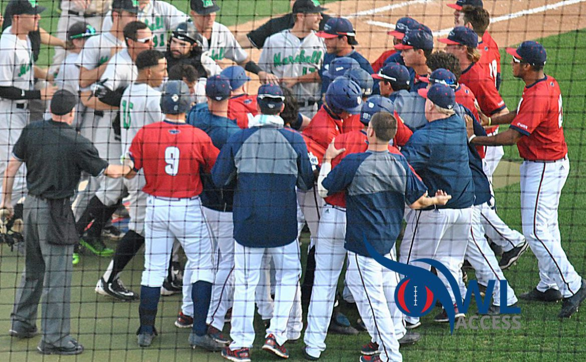 fau marshall benches clear
