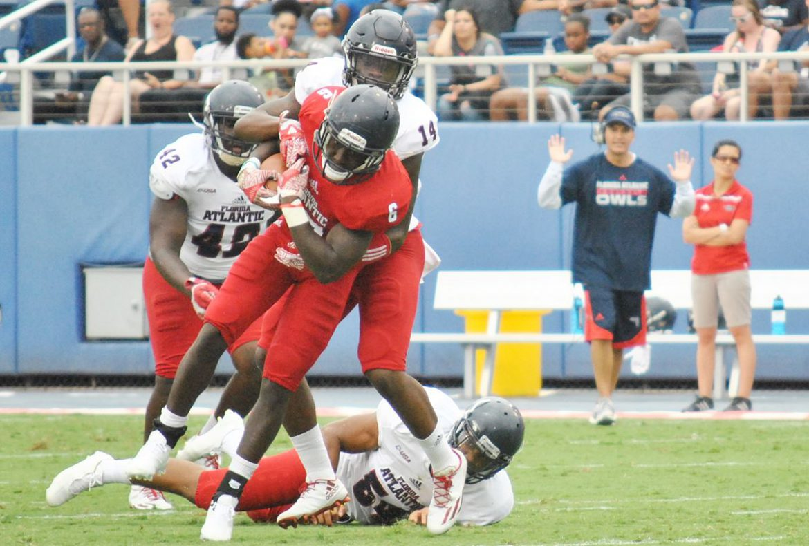 FOUR DOWN TERRITORY:<br> Spring Game <div class='secondary-title'><span style='color:#818181;font-size:14px;'>What was the biggest surprise at FAU this spring? Who was the spring MVP? Those questions and more answered here.</div>