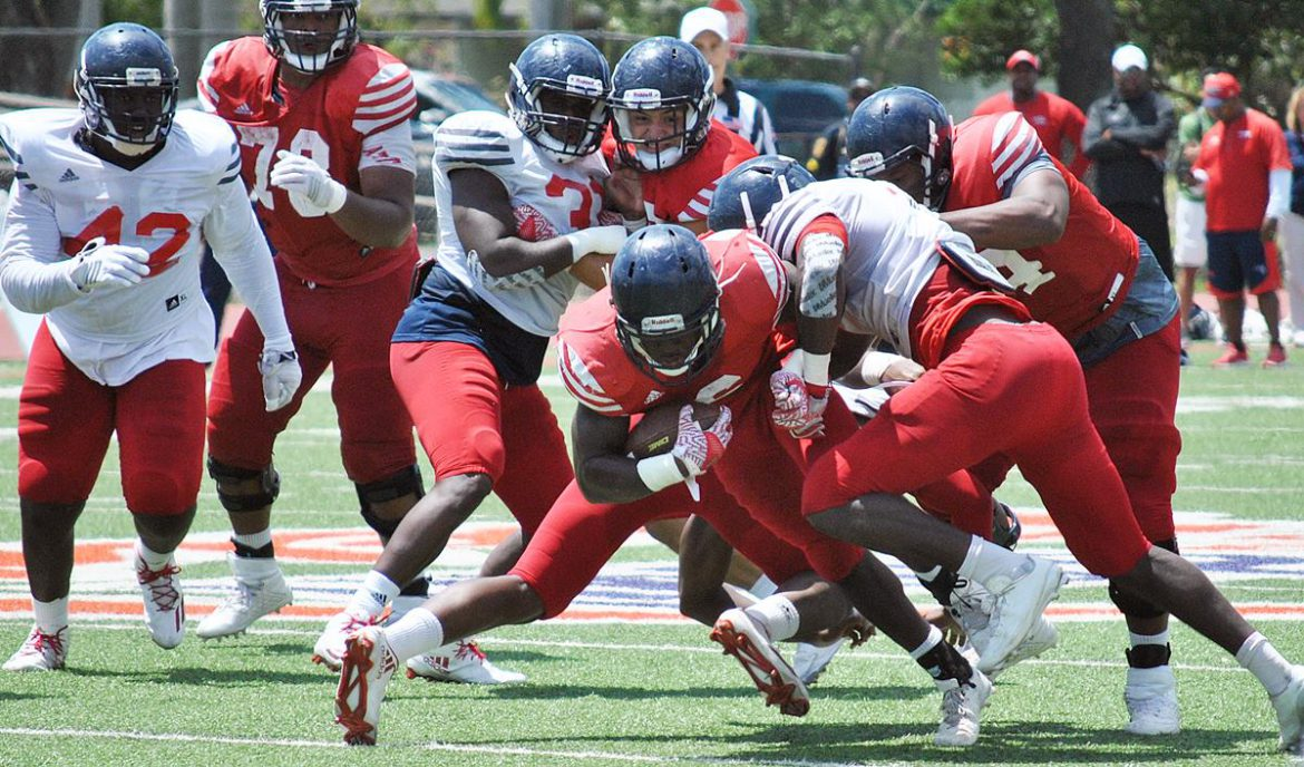 PHOTO GALLERY:<br> Spring Scrimmage <div class='secondary-title'><span style='color:#818181;font-size:14px;'>Here's a photo gallery from Saturday's FAU spring scrimmage at Carter Park in Fort Lauderdale.</div>