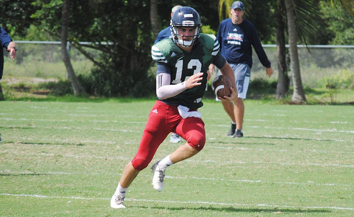 HARD KNOCKS at the OX: Parr Showcase <div class='secondary-title'><span style='color:#818181;font-size:14px;'>With Jason Driskel absent quarterback Daniel Parr practices with second team for FAU on Thursday.</div>