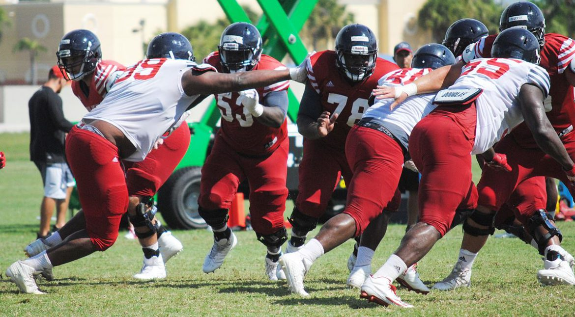 HARD KNOCKS at the OX: Tackling Issues <div class='secondary-title'><span style='color:#818181;font-size:14px;'>FAU coach Lane Kiffin tells the Owls to tone it down after seeing too much tackling during  the first day in full pads.</div>