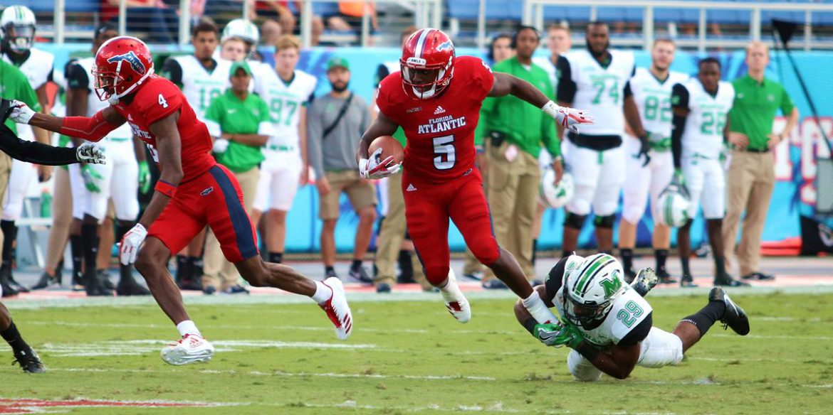 Bowl Eligible <div class='secondary-title'><span style='color:#818181;font-size:14px;'>FAU becomes bowl eligible for the first time since 2013 with 30-25 victory over Marshall.</div>