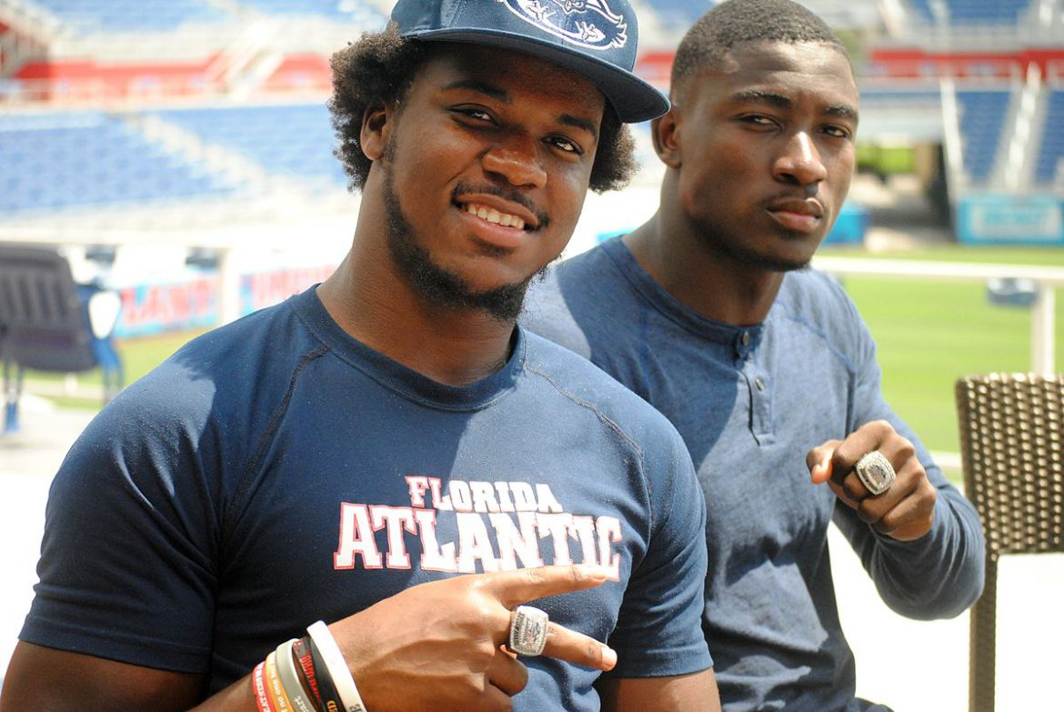 Steak and Bling <div class='secondary-title'><span style='color:#818181;font-size:14px;'>FAU players enjoyed their steak with a side of bling on Tuesday, receiving their C-USA title rings at their spring wrap-up lunch.</div>