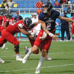 FAU QB Chris Robison completed 12 of 26 passes for 172 yards and a touchdown during FAU's spring game. (OwlAccess.com photo)