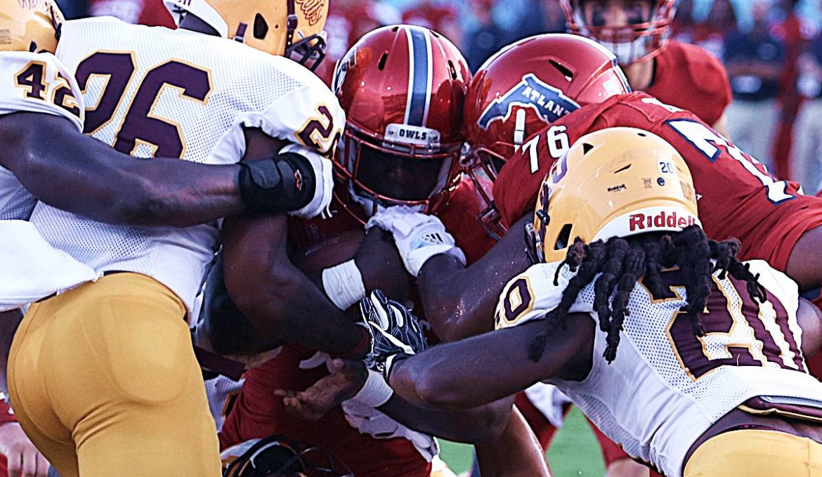 Motor Started <div class='secondary-title'><span style='color:#818181;font-size:14px;'>Running back Devin Singletary runs for a program-record five touchdowns to lead FAU past Bethune-Cookman 49-28.</div>