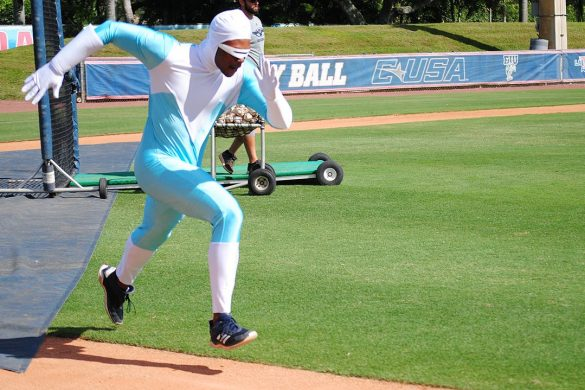 Dress for Success <div class='secondary-title'><span style='color:#818181;font-size:14px;'>FAU baseball's annual Halloween practice included white men who couldn't jump, a hot dog and and a Blue Martini. </div>
