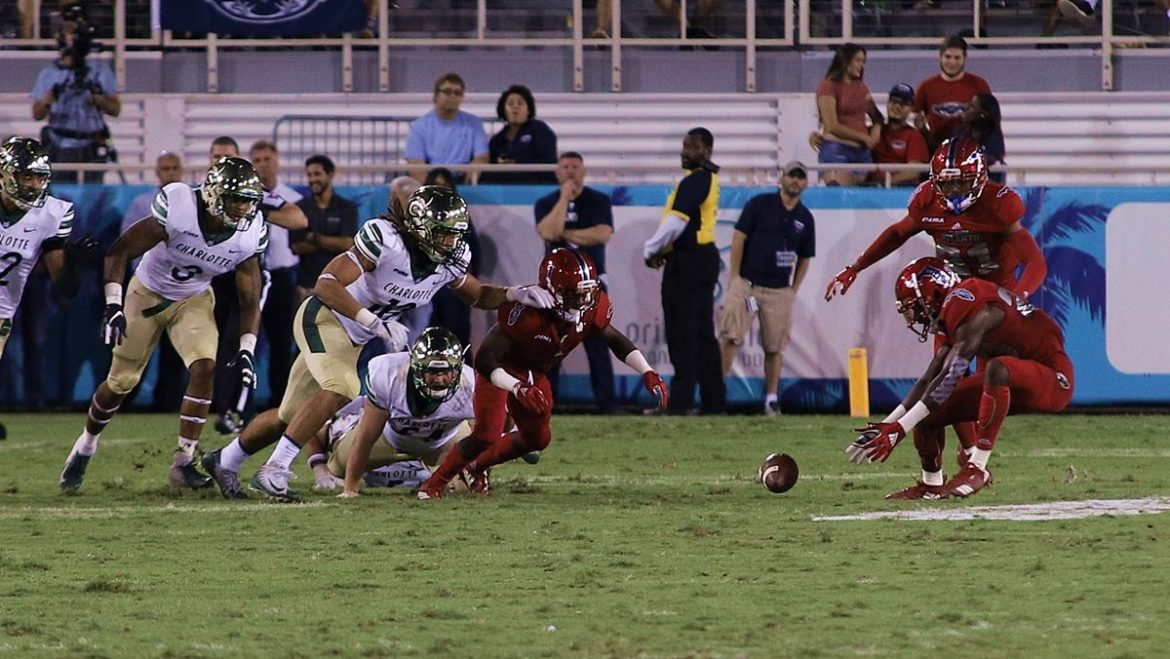 FOUR DOWN TERRITORY:<br> Charlotte 27, FAU 24 <div class='secondary-title'><span style='color:#818181;font-size:14px;'>A late 56-yard Charlotte field goal ended one of the most frustrating FAU seasons in program history.</div>