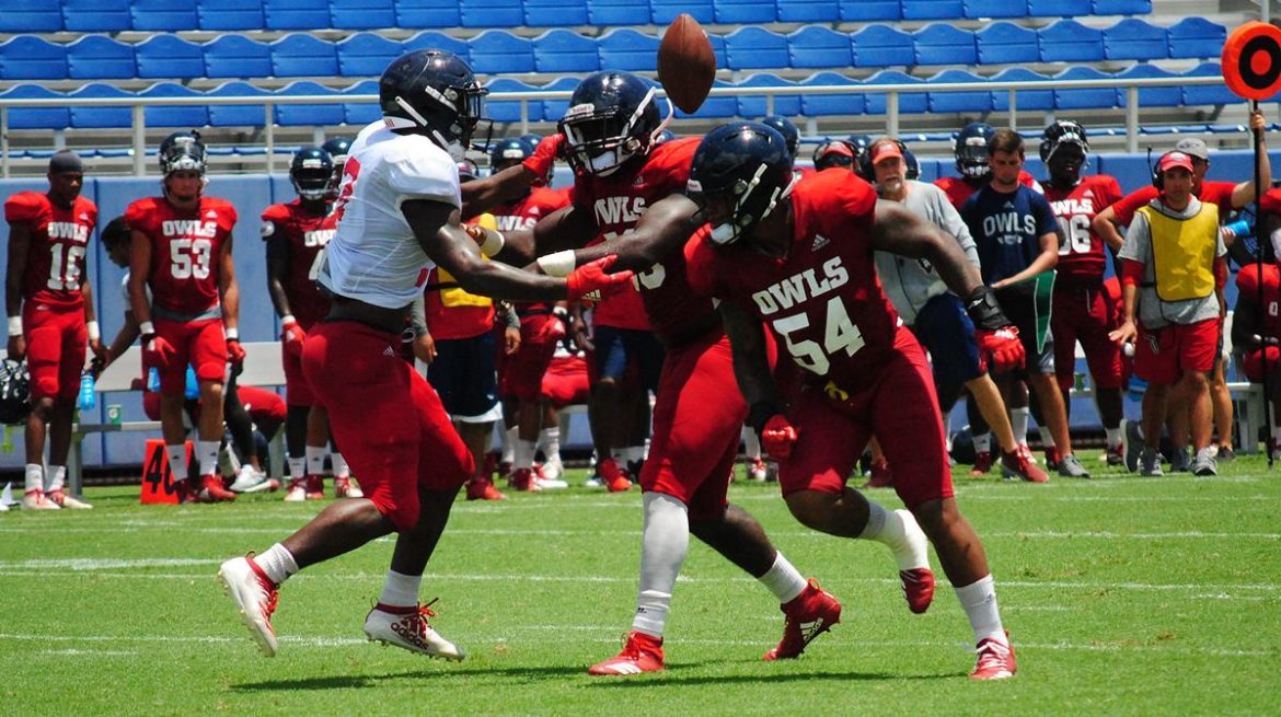 Offensive Progress <div class='secondary-title'><span style='color:#818181;font-size:14px;'>FAU's defense didn't dominate the second fall scrimmage like it did a week ago, but Lane Kiffin still praised the first team unit as looking