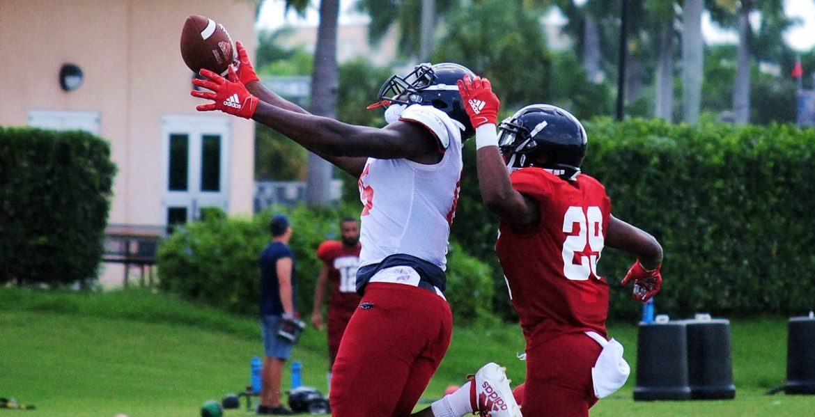 Maturation Process <div class='secondary-title'><span style='color:#818181;font-size:14px;'>Lane Kiffin says he's seeing growth on and off the field from FAU quarterback Chris Robison during the first week of fall camp.</div>