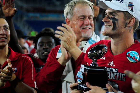Boca Bowl Blowout <div class='secondary-title'><span style='color:#818181;font-size:14px;'>Shorthanded FAU had more than enough power to batter high-power SMU, winning its second Boca Raton Bowl title in three years.</div>